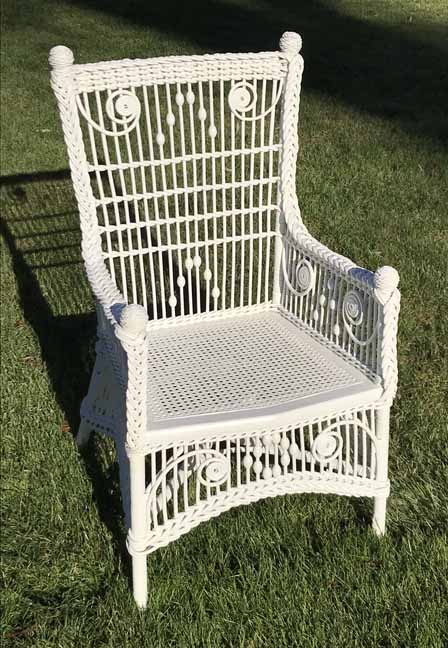 antique wicker chair - Corner House Antiques